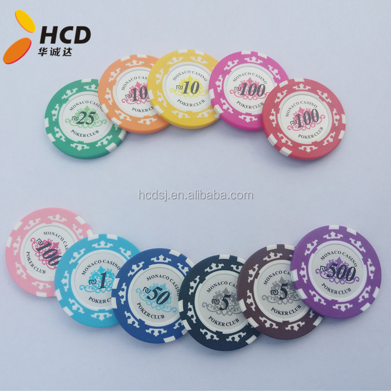 Caso di chip con i dadi poker chip set 300 abs casino pulsante bianco