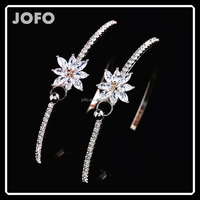 New Fashion Elegance Bracelet for Women Contracted Personality Rose Gold Bracelet Delicate Zircon Bangles