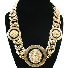 Fashion hiphop gouden <span class=keywords><strong>ketting</strong></span> lion hanger <span class=keywords><strong>statement</strong></span> <span class=keywords><strong>ketting</strong></span> voor man