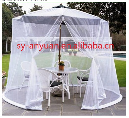mousquito mesh net table screen outdoor garden umbrella parasol