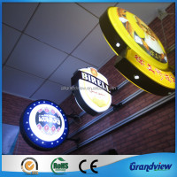 advertising outdoor wall mount light box sign