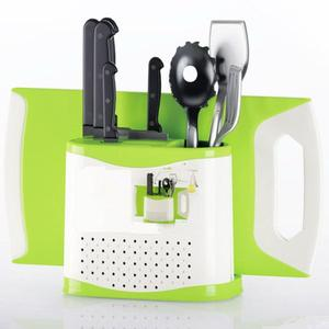 PP plastic cutting board knife and fork kitchen plastic knife holder