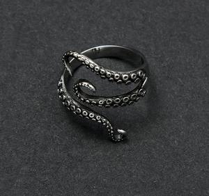 stainless steel Octopus foot opening Ring