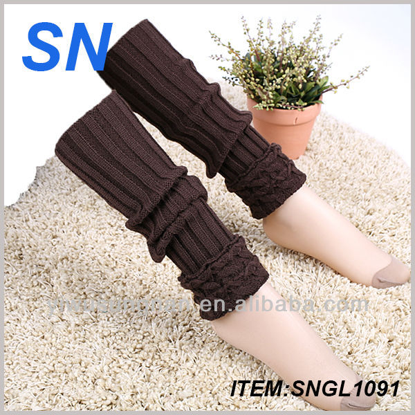 Cheapest high quality cashmere Chinese factory warm&sexy funky leg warmers