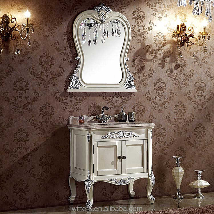 shabby chic feuille d 39 or salle de bains meubles style victorien console vanity collection pour. Black Bedroom Furniture Sets. Home Design Ideas
