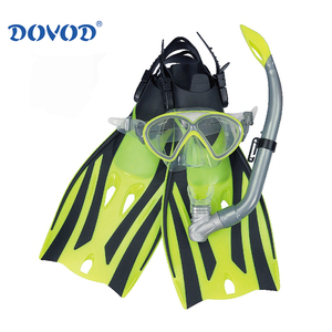 pc frame tempered glass swimming mask and snorkel and fin snorkeling mask with nose diving equipment sets