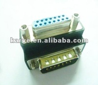 DB15p Male to DB15p Female adapter angled 90 degree adapter