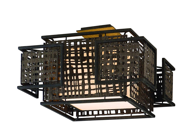 Corbett Lighting 105-32 Shoji Two Light Ceiling Semi-Flush Mount