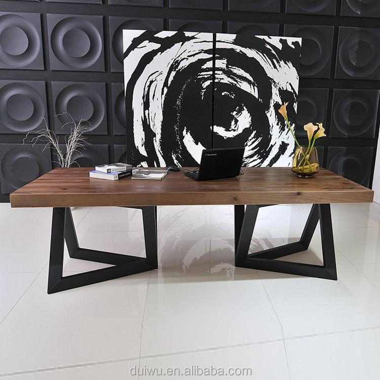 Foshan manufacturer OEM design comfortable office solid wood computer desk