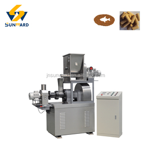 Best quality fish food making facility, single screw extruder, fish feed machine