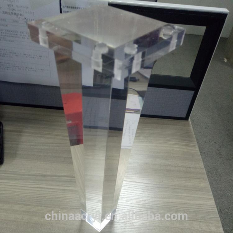 High Class Furniture Parts Custom Desgin Acrylic Furniture Legs
