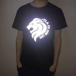 521311972 custom shirt reflective heat transfer logo/polyester man custom t shirt  printing white sublimation men