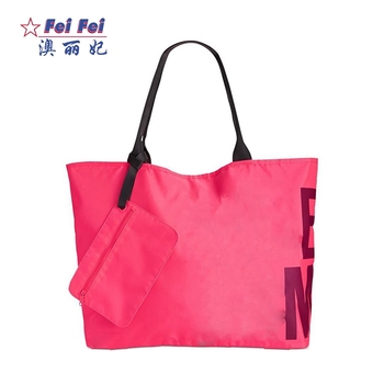 Whole Organizing Pink Non Woven Polyester Poly Poplin Fabric Small Tote Bag With Zipper