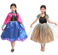 Best price polyester girls costume princess children lovely princess costume for kids