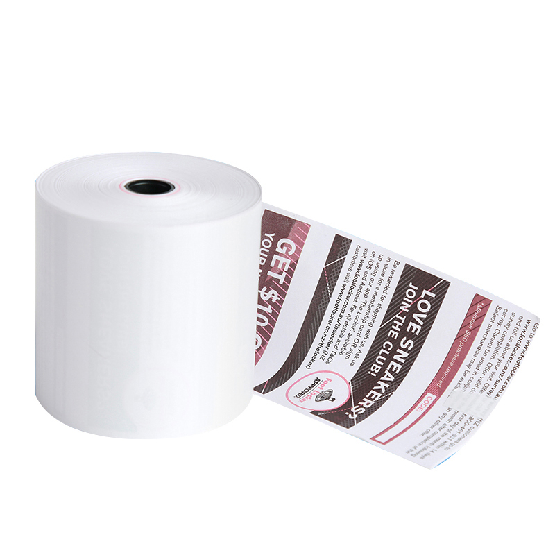 Colored Printing 80mm Thermal Paper Plastic Core Thermal Paper Cash Register Paper
