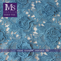 New arrival fashion designer chemical lace fabrics embroidery textile lace fabric