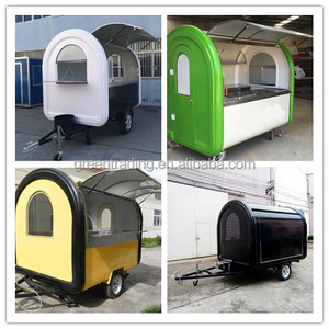 New Arrival Outdoor Mobile Food Trailer/ Street Mobile Food Cart/ China Factory Mobile Food Truck For Sale