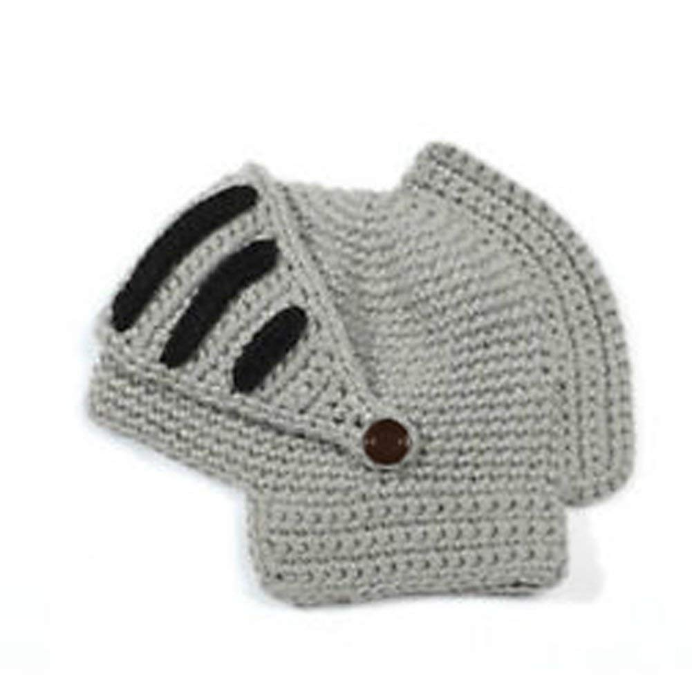 2df0be049a4 LOCOMO Roman Knight Helmet Visor Cosplay Knit Beanie Hat Cap Wind Mask  FFH088GRY