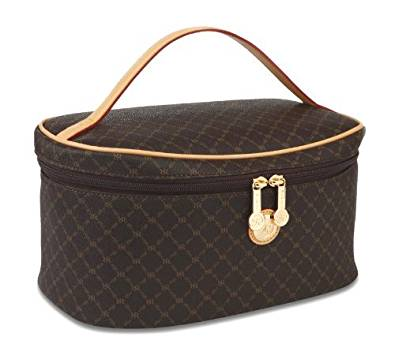 cd1983c54c6f Signature Brown Cosmetic Carrier by Rioni Designer Handbags   Luggage