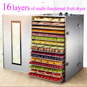 1000W POWER 16LAYERS FOOD DRYER Dry Machine Fruits and Vegetables Dehydration Drying Machine Pet Food