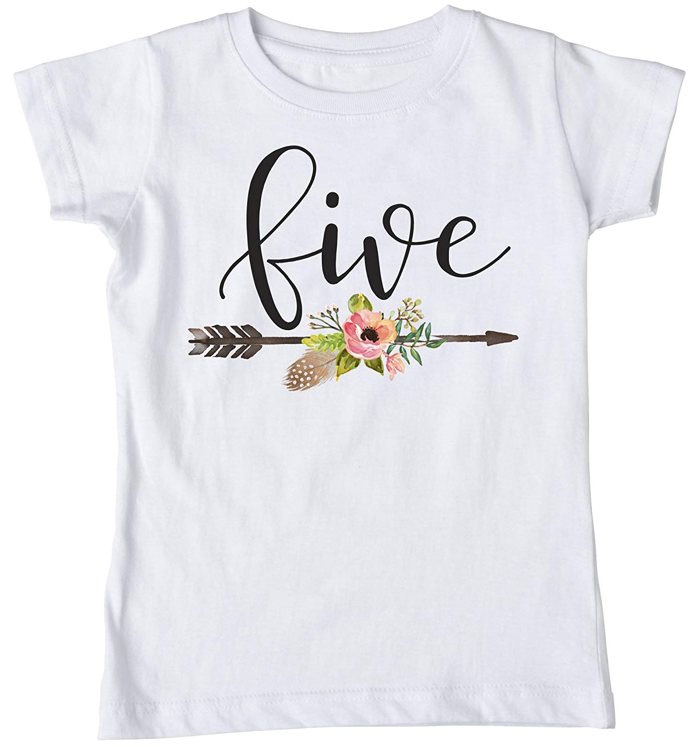 Get Quotations Fifth Birthday Five Shirt Boho Bohemian