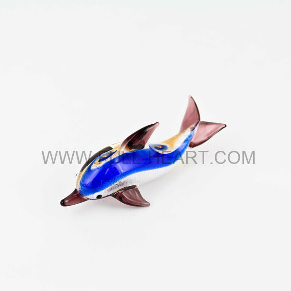 Murano Glass animal figurine decorations Handmade fish figurine