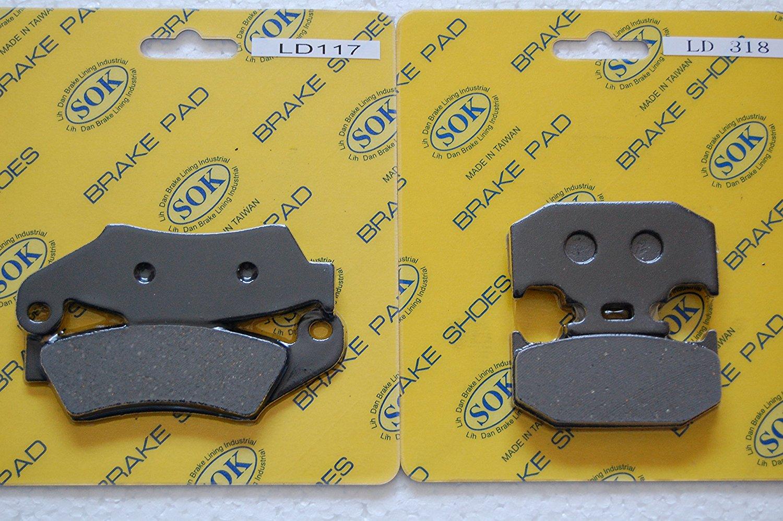 FRONT&REAR BRAKE PADS KAWASAKI 1995-2006 KDX200, 1994-2005 KDX220, 1993-1997 KLX250, 1993-1995 KLX650, 1994 KX125 KX250 KX500 (LD117 LD318)
