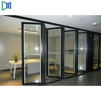 Aluminium Double Glazed Aluminum Windows Portable Folding Doors Room