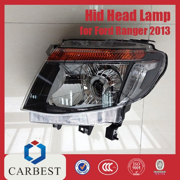 High Quality New Hid Car Head lamp for Ford Ranger 2013 with Glass Lens