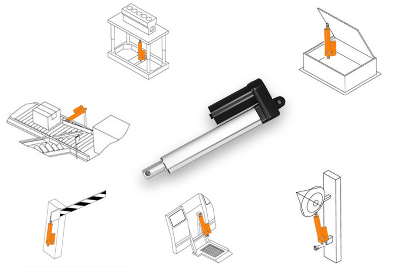 TOMUU compact size tight structure waterproof metal gear fast electric linear actuator 24 volt for recliner chair