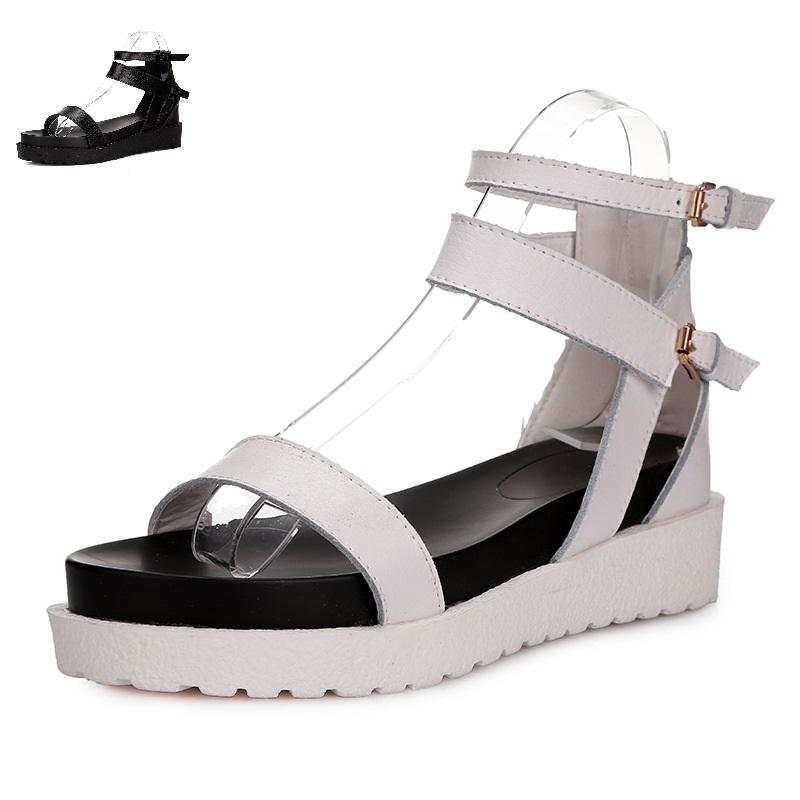 8861a71cecd Buy Hot Sale 2015 Women Black White Wedge Flip Flops Platform Sandals Flats  Shoes Rome Sandals Size 35-39 White Wedge Flip Flops in Cheap Price on ...