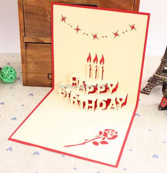3d happy birthday cake wedding favor pop up invitation card buy 3d happy birthday cake wedding favor pop up invitation card stopboris Image collections