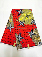 Elegant wax print fabric african with natural pattern for clothing