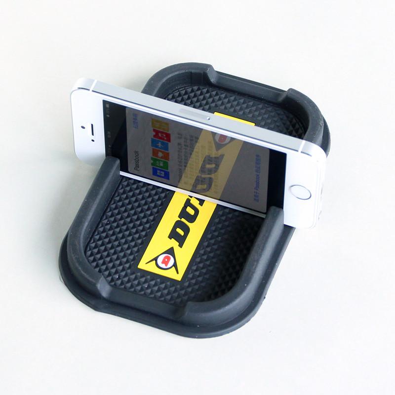 Custom logo soft pvc/rubber car anti slip mat for mobile phone