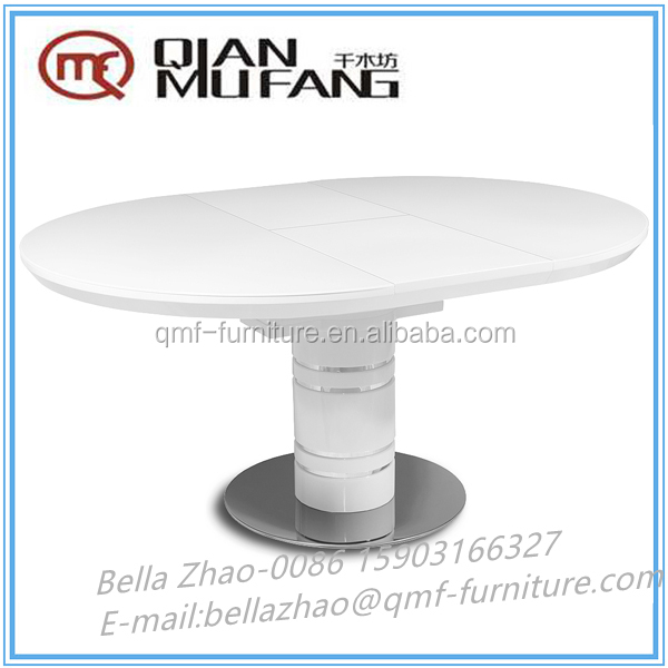 high-end mdf convertible butterfly extension mechanism dining table