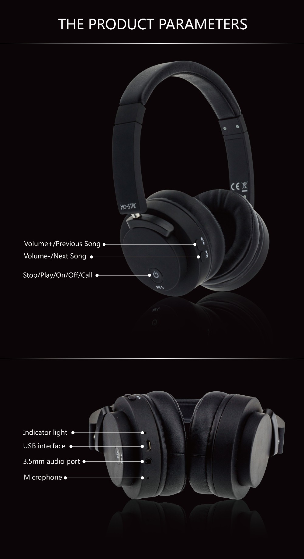 China Supplier High Quality Deep Bass CSR 8635 Wireless Bluetooth Headphones