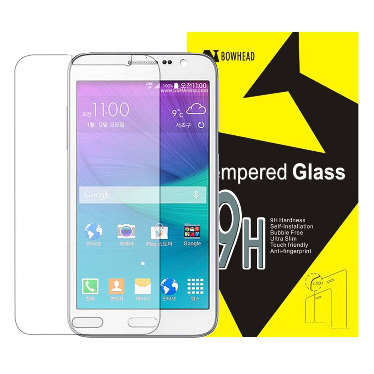Galaxy S7 Screen Protector, Bowhead Samsung Galaxy S7 Glass Screen Protector - [Tempered Glass] 9H Hardness, Bubble Free