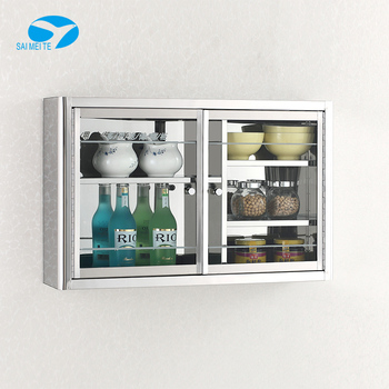 Wall Mounted Stainless Steel Kitchen Mirror Cabinet With Glass Door Buy Wall Mount Glass Display Cabinets Small Wall Mounted Cabinet Steel Cabinet With Two Doors Product On Alibaba Com