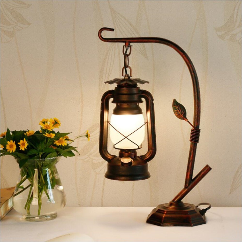 Get quotations · rarlonly rustic lodge novelty desk lamp table lamps for living roomambient light country