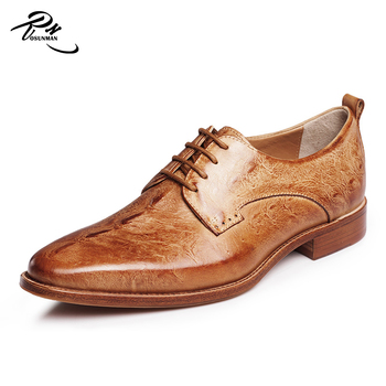 high end formal design genuine cow leather dress shoes