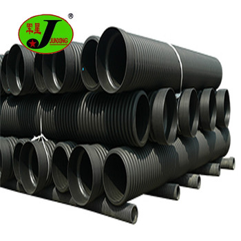 "sn8 hdpe twin wall large diameter corrugated pipe 6"" corrugated drain pipe"