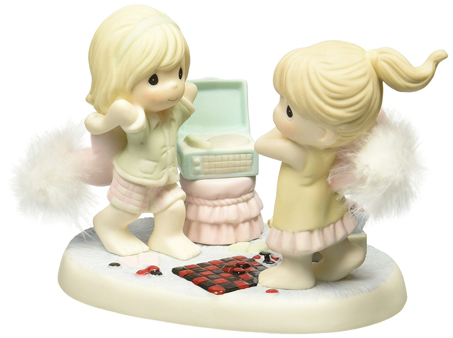 """Precious Moments, 2016 Collectors' Club, Symbol of Membership, """"A Friend Is Life's Greatest Blessing"""" Bisque Porcelain Figurine, CC169001"""