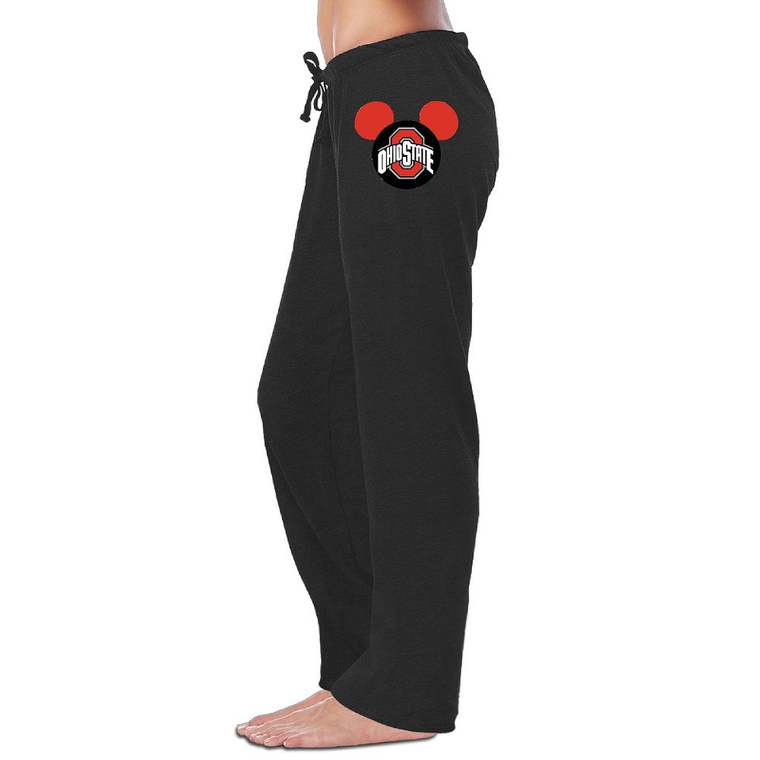 d9e4211a Get Quotations · Bro-Custom Ohio State Buckeyes Football In Mickey Mouse  Women Bottoms Black