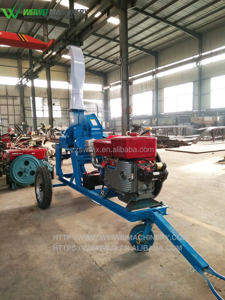 Weiwei agriculture manufacturers green forage chopper machine