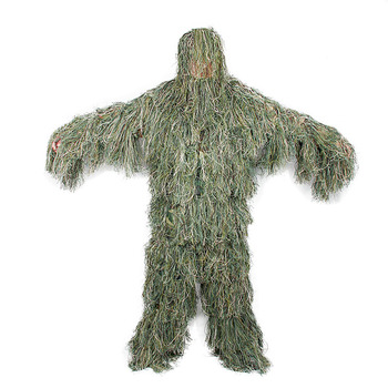 e2f0830d7fad0 military camo camouflage clothing Ghillie Suit green leaf suit HK34-0070