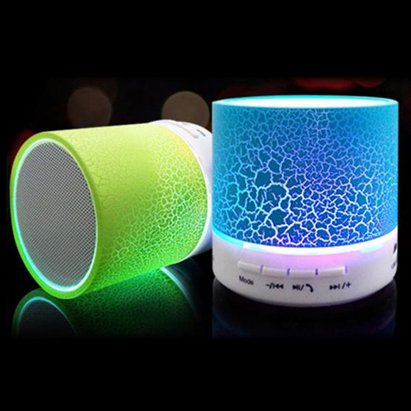 Wireless Bluethooth Mini Speaker A9 LED lights Stereo Portable Audio Player