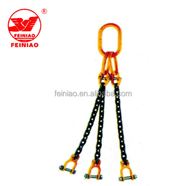 Safety Pin Three Legs Hook Lifting Chain Sling