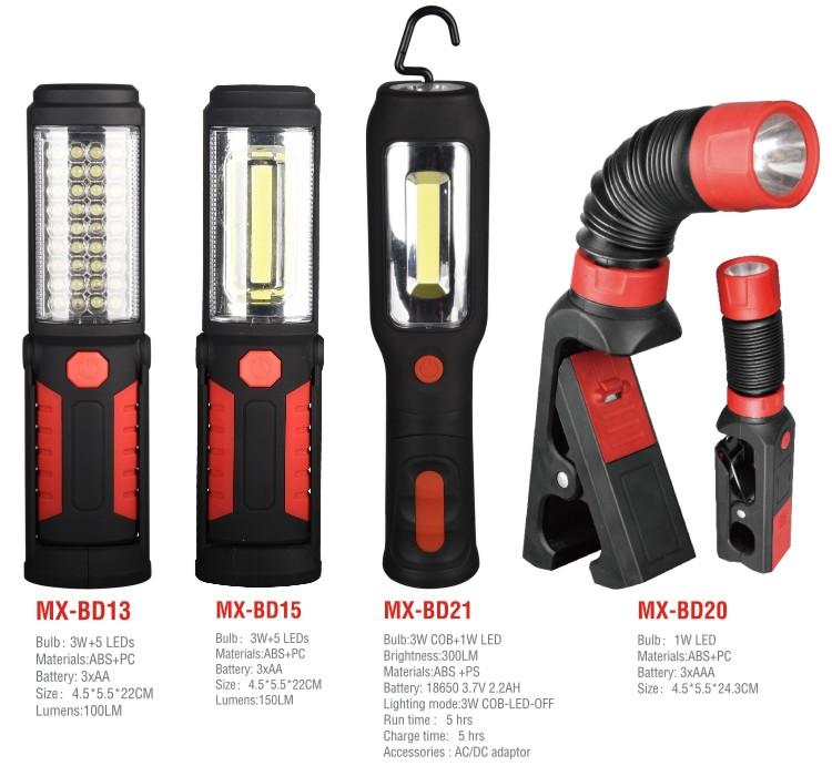 Venta caliente al aire libre de emergencia de coche luz de trabajo portátil LED luz de trabajo con imán gancho