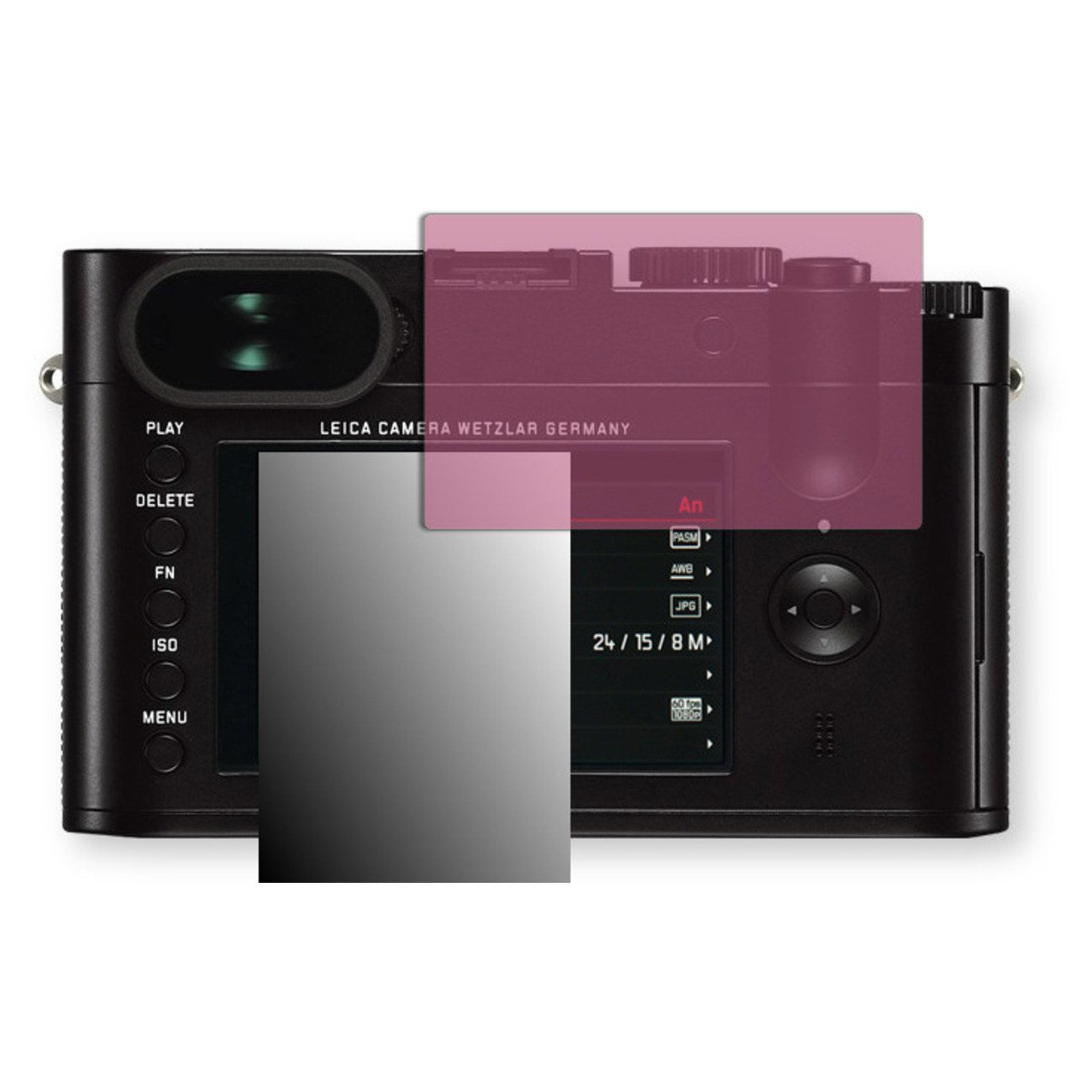 Golebo Screen Film for Privacy protection pink for Leica Q - PREMIUM QUALITY