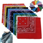 Bandanas Square 100% Cotton Novelty Headband Handkerchiefs Paisley Cowboy Scarf